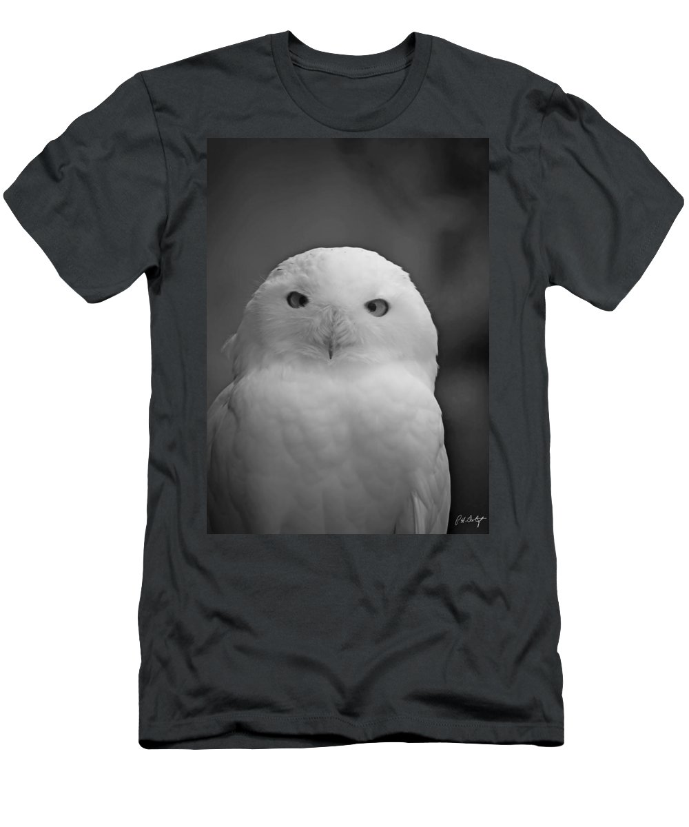 Birds Men's T-Shirt (Athletic Fit) featuring the photograph Snowy Owl by Phill Doherty