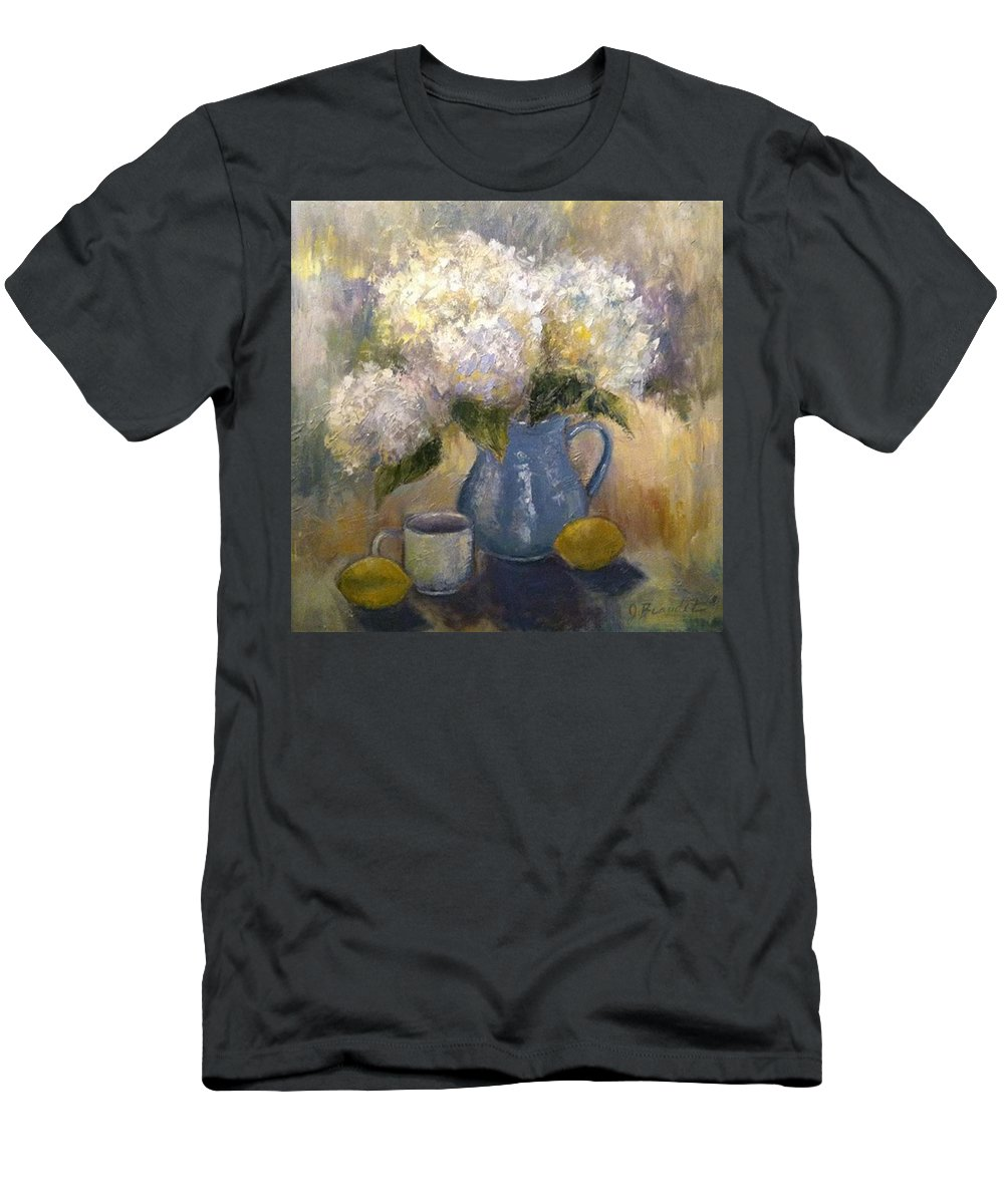 Impressionism Men's T-Shirt (Athletic Fit) featuring the photograph So Happy And Excited To Say That This by Jennifer Beaudet
