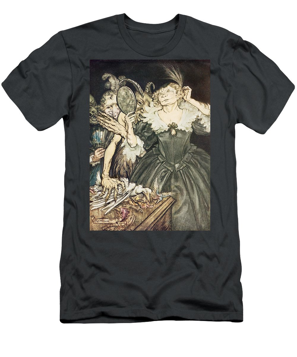 Arthur Rackham Men's T-Shirt (Athletic Fit) featuring the drawing So Perfect Is Their Misery by Arthur Rackham
