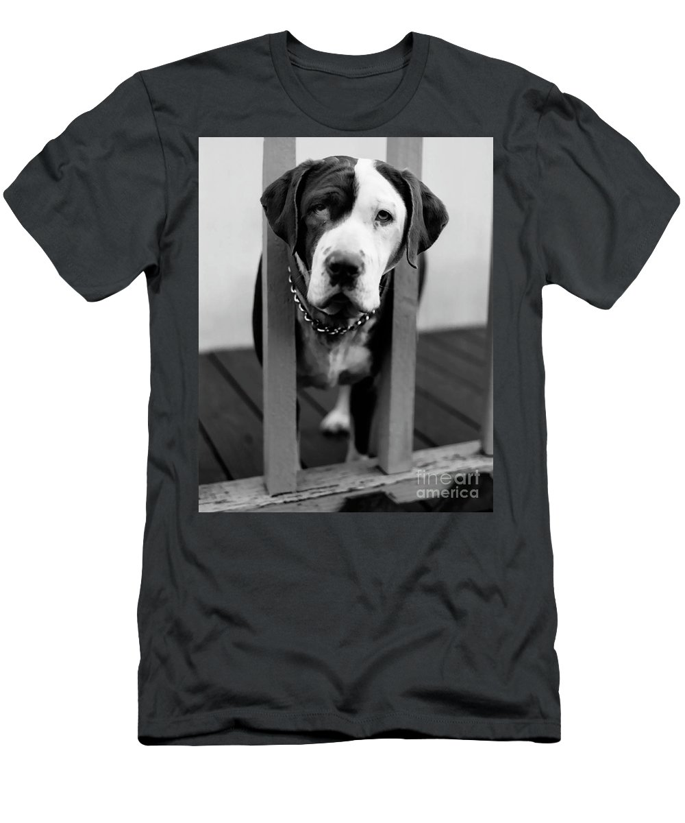 Black And White Men's T-Shirt (Athletic Fit) featuring the photograph So Sad by Peter Piatt