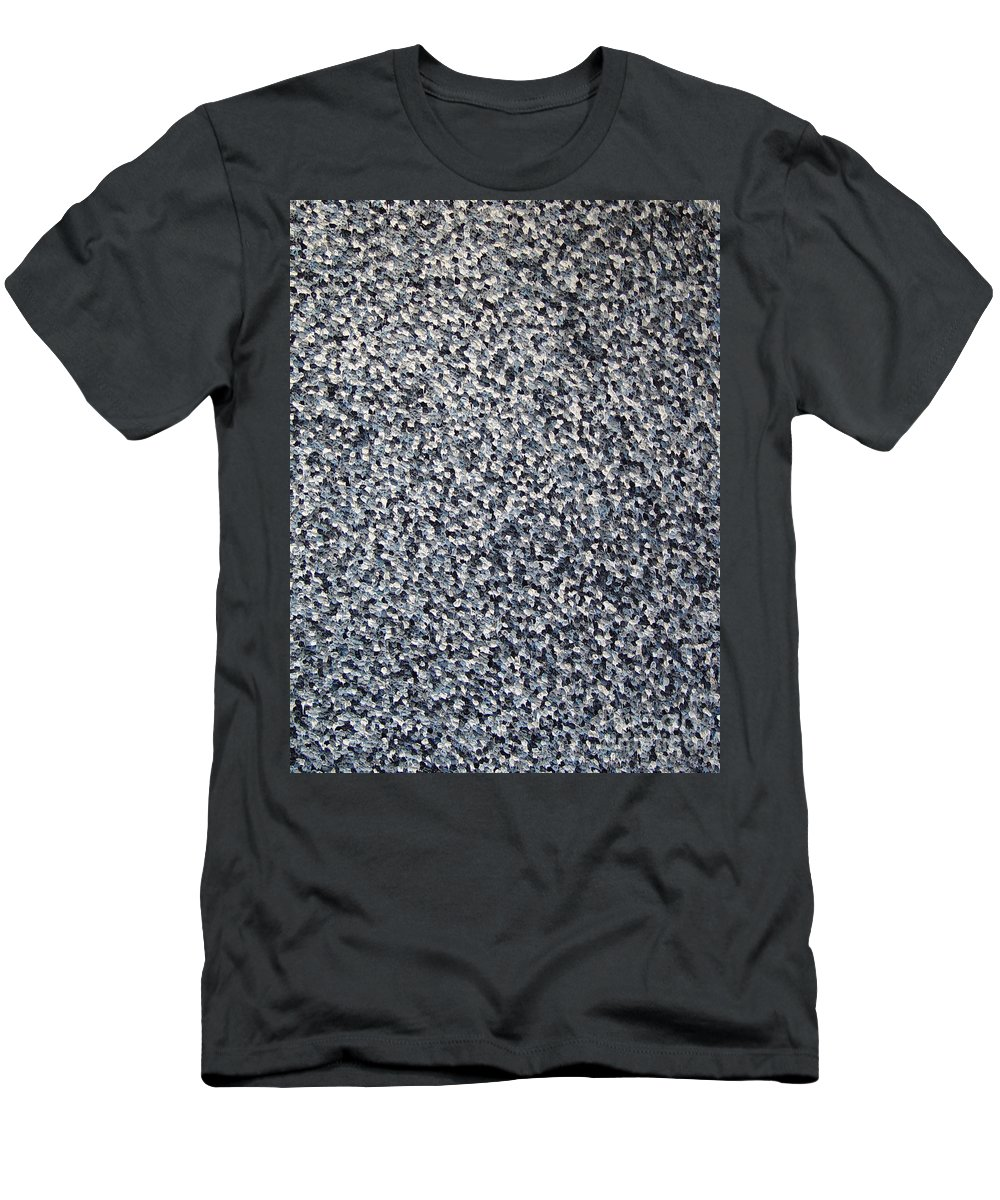 Abstract Men's T-Shirt (Athletic Fit) featuring the painting Soft Grey Scale by Dean Triolo