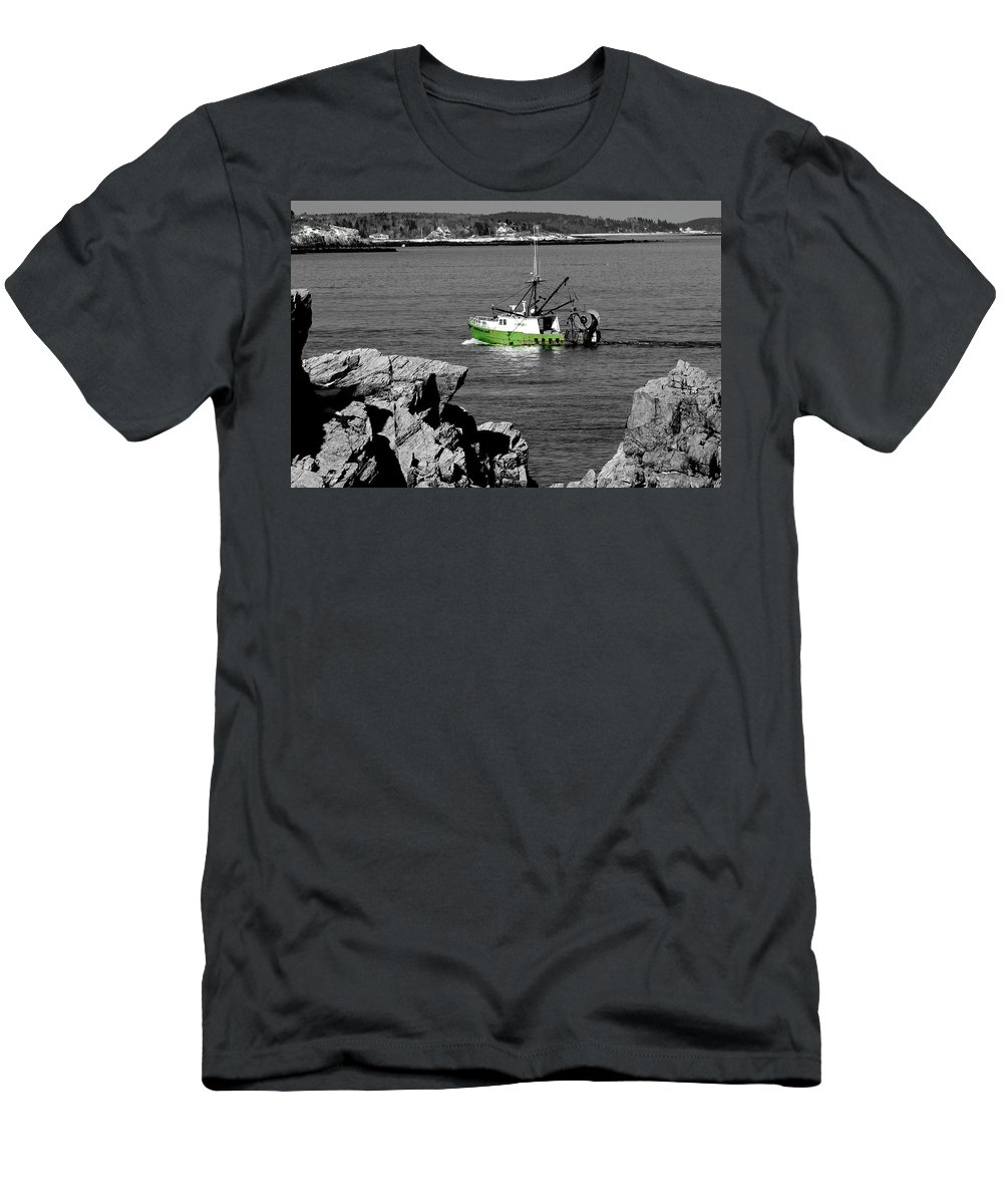 Coast Men's T-Shirt (Athletic Fit) featuring the photograph Solitude by Greg Fortier