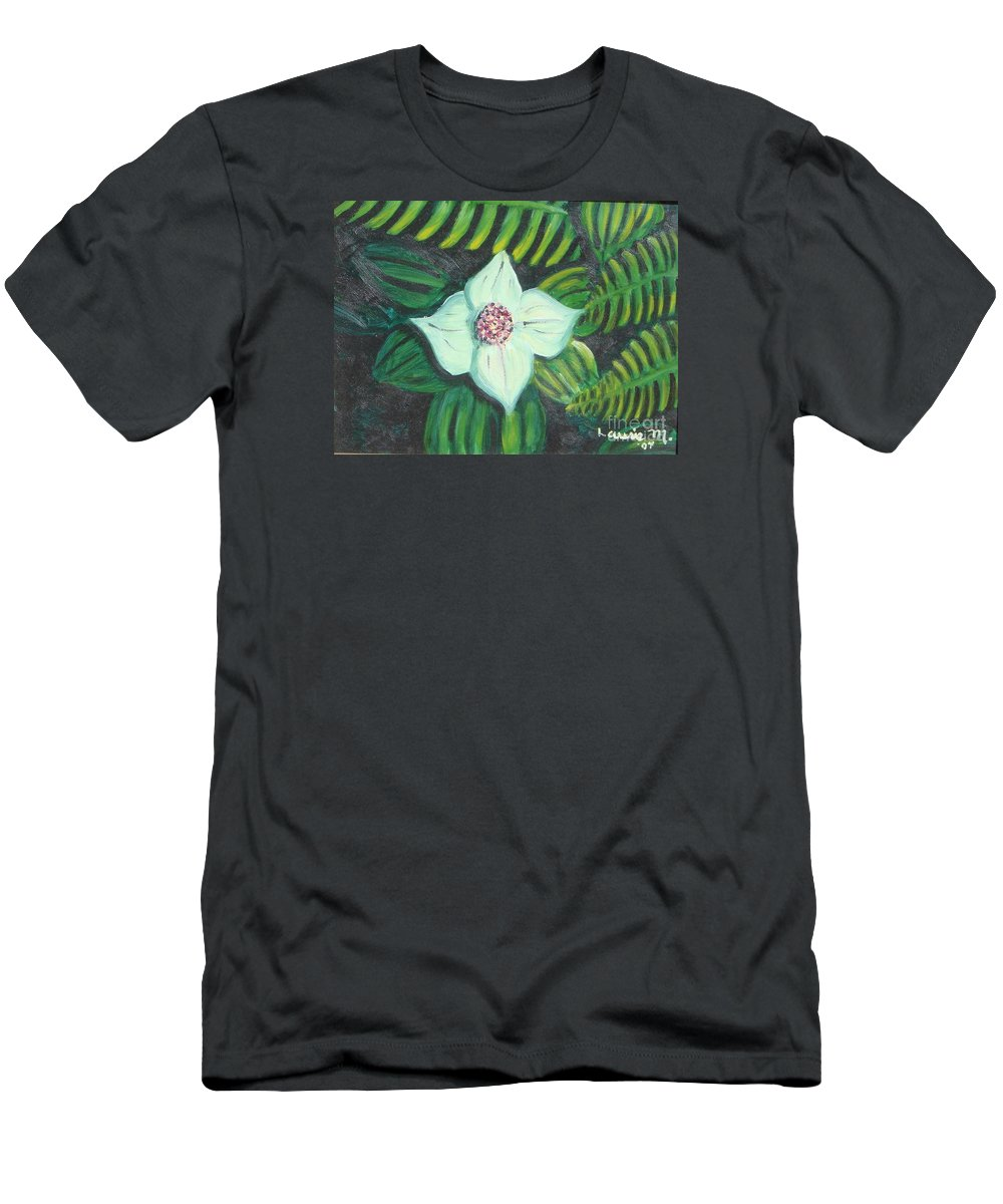 Flowers Men's T-Shirt (Athletic Fit) featuring the painting Solo Performance by Laurie Morgan