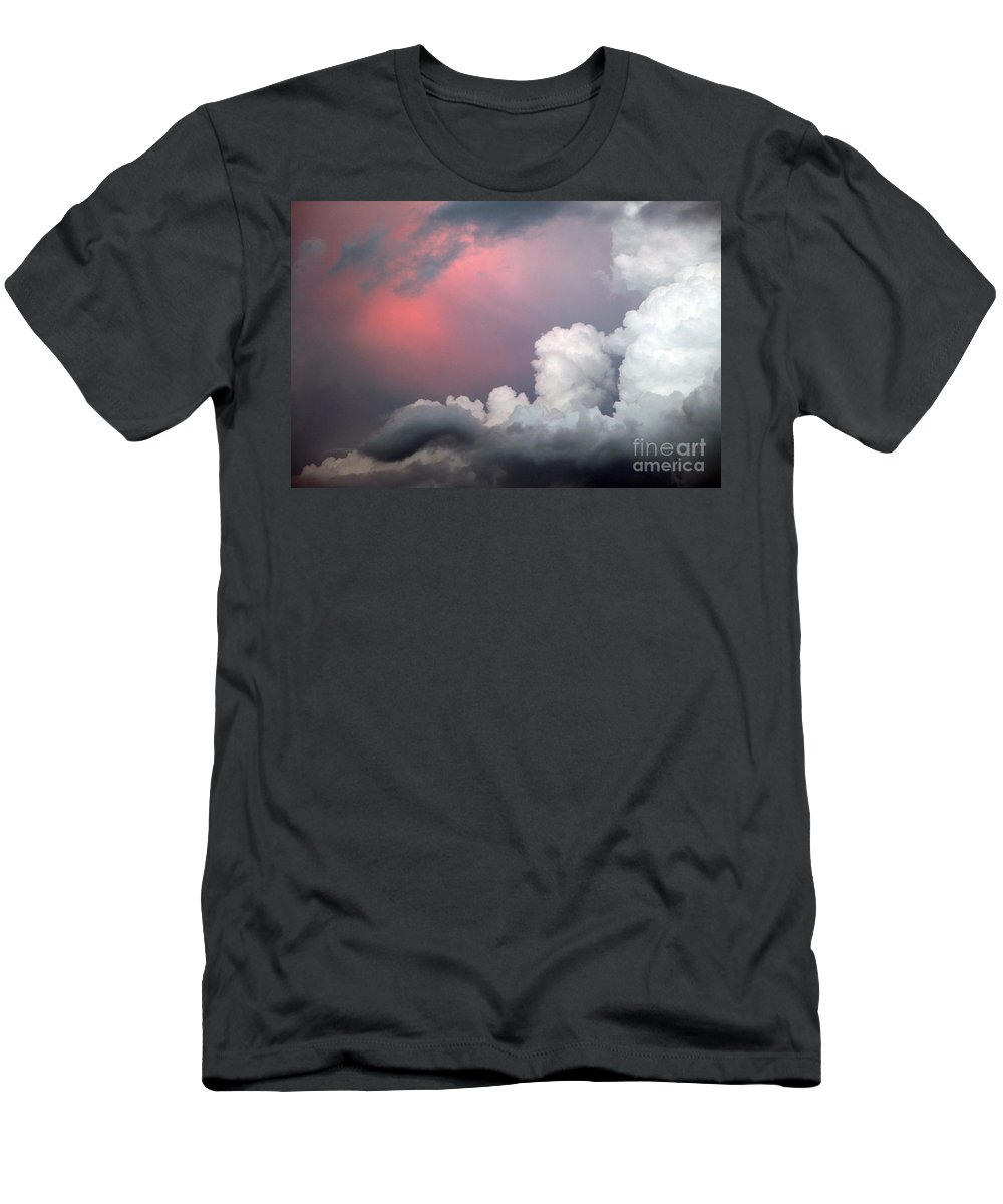 Cloud Men's T-Shirt (Athletic Fit) featuring the photograph Something In The Clouds by Amanda Barcon