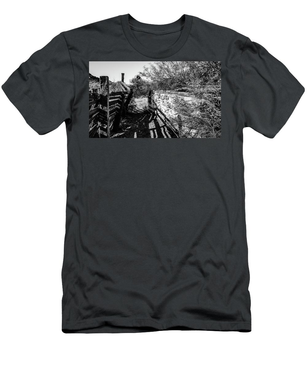 Alamo Men's T-Shirt (Athletic Fit) featuring the photograph Sonoran Ghost Corral by Cary Leppert