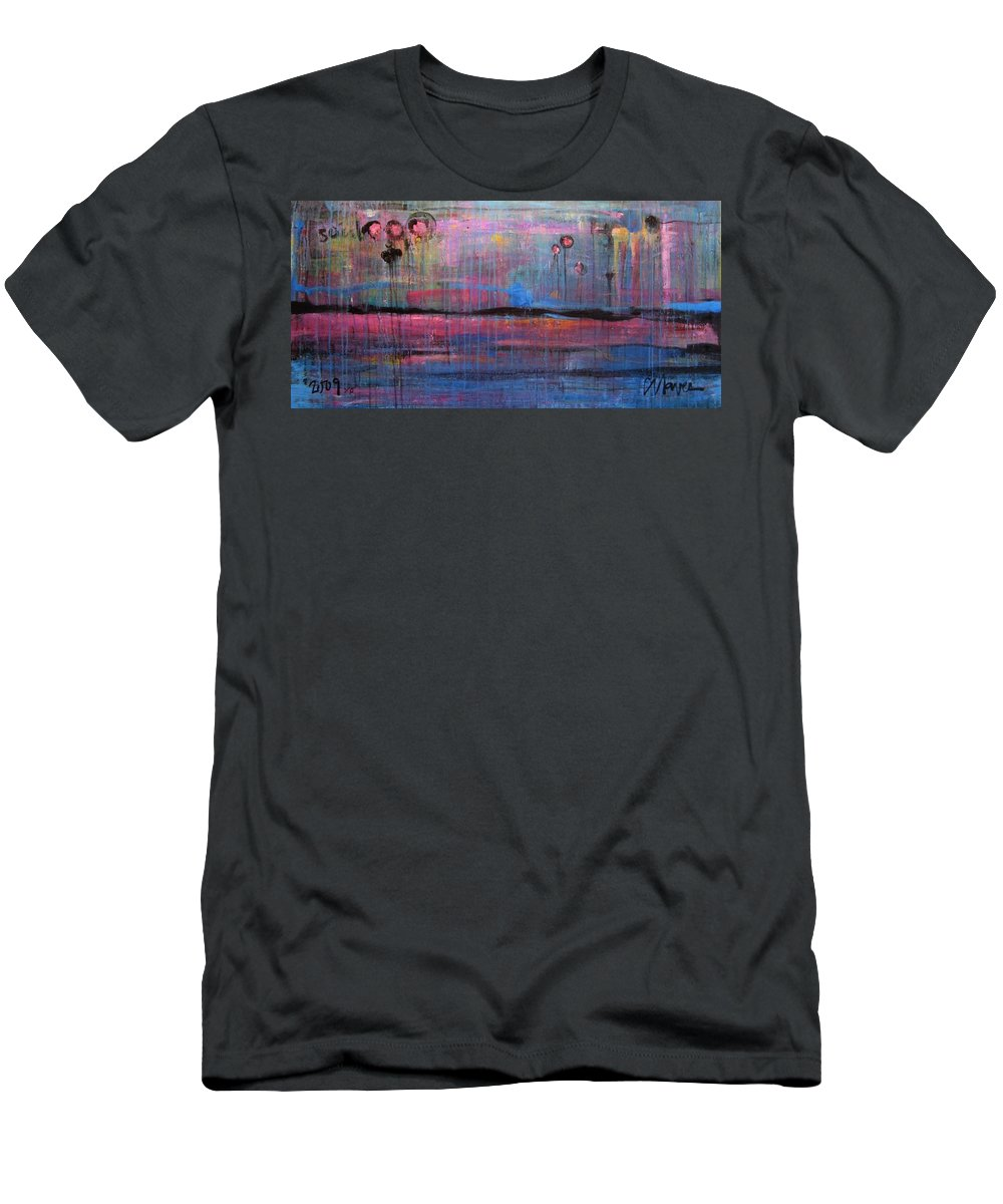 Abstract Men's T-Shirt (Athletic Fit) featuring the painting Soul by Laurie Maves ART