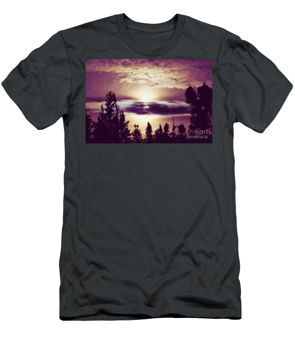 Sound Of The Sun Men's T-Shirt (Athletic Fit) featuring the photograph Sound Of The Sun by Sharon Mau