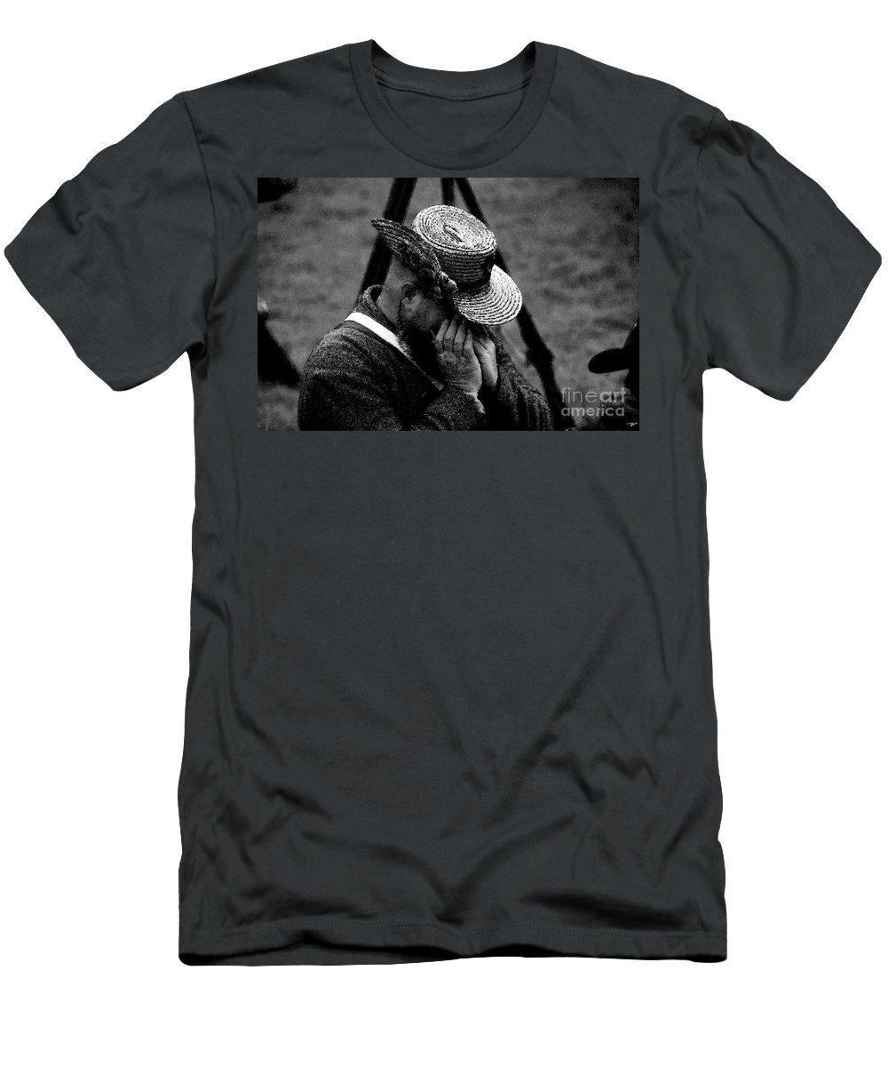 Art Men's T-Shirt (Athletic Fit) featuring the painting Sounds Of The Old West by David Lee Thompson