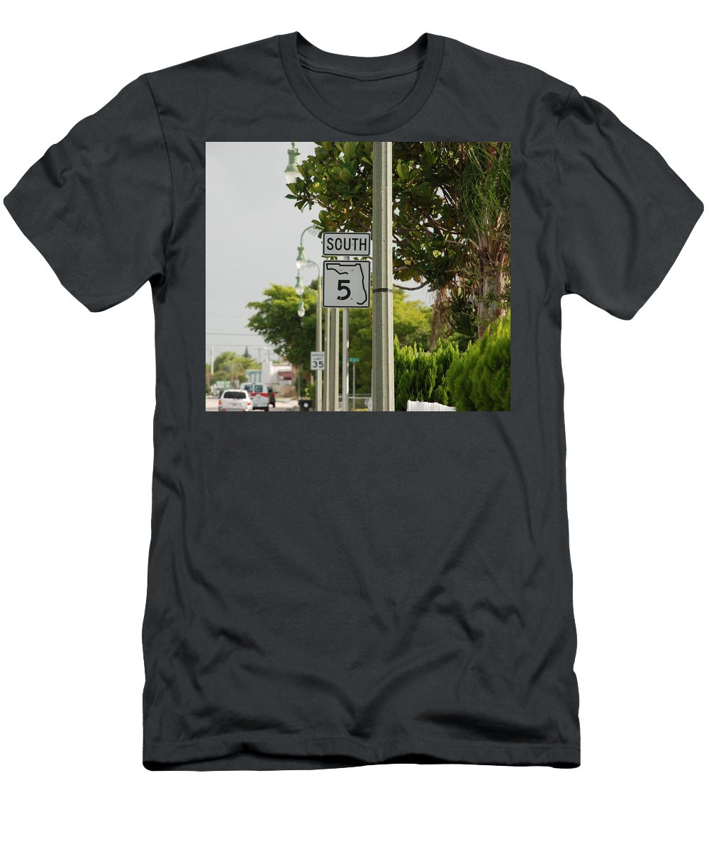 South Men's T-Shirt (Athletic Fit) featuring the photograph South Florida 5 by Rob Hans