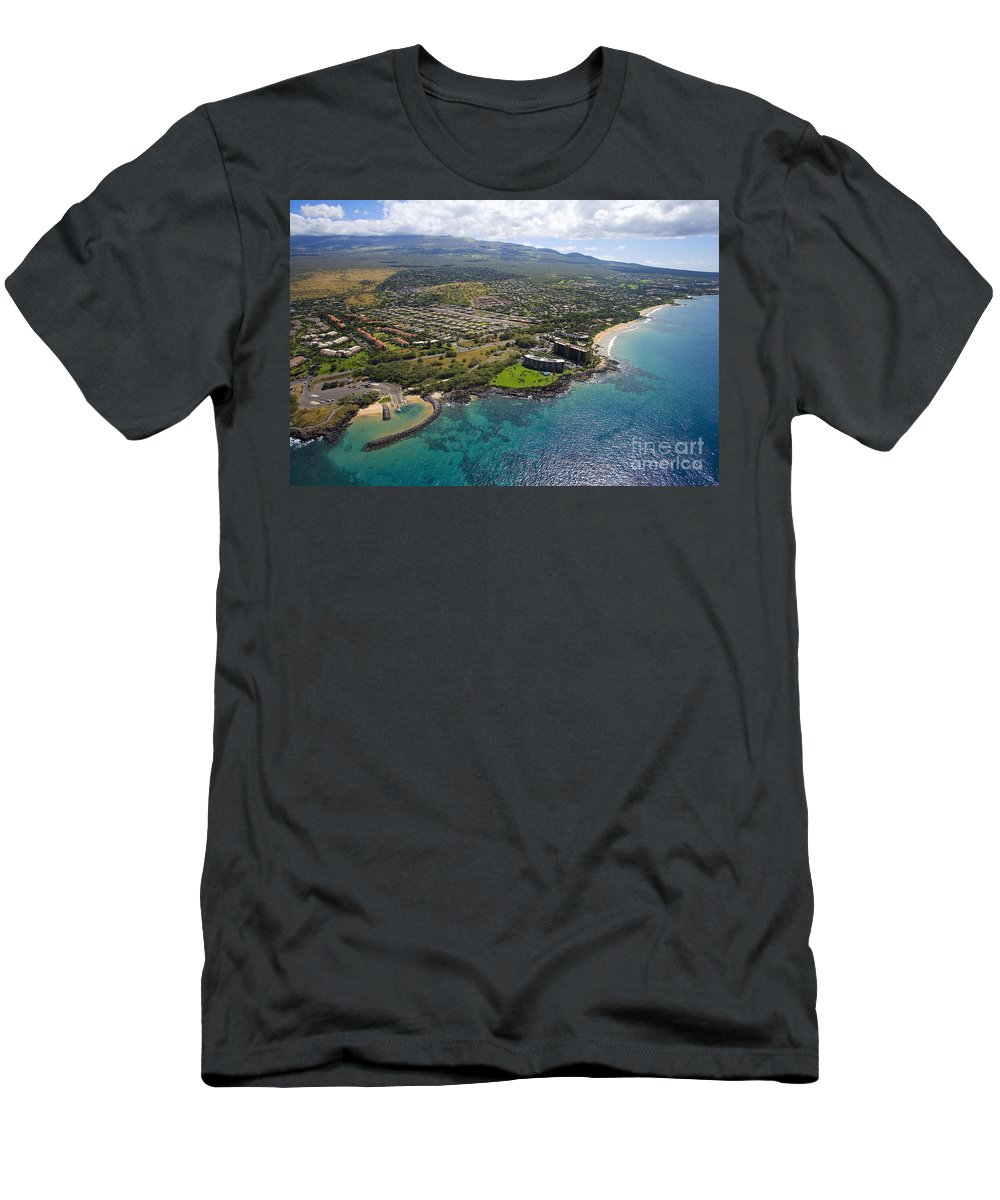 Above Men's T-Shirt (Athletic Fit) featuring the photograph South Kihei Coastline by Ron Dahlquist - Printscapes
