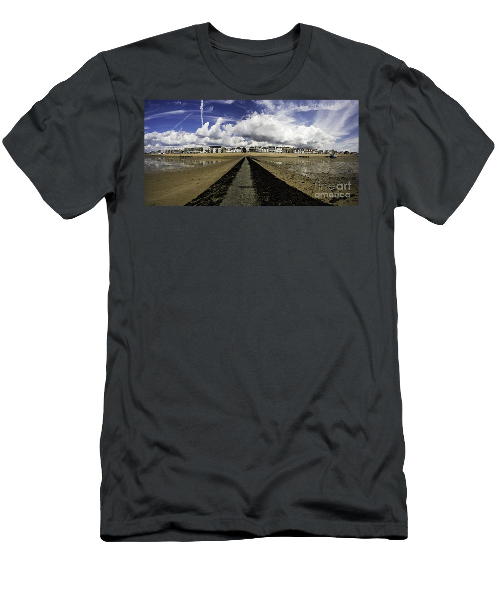 Southend On Sea Men's T-Shirt (Athletic Fit) featuring the photograph Southend On Sea Panorama by Sheila Smart Fine Art Photography