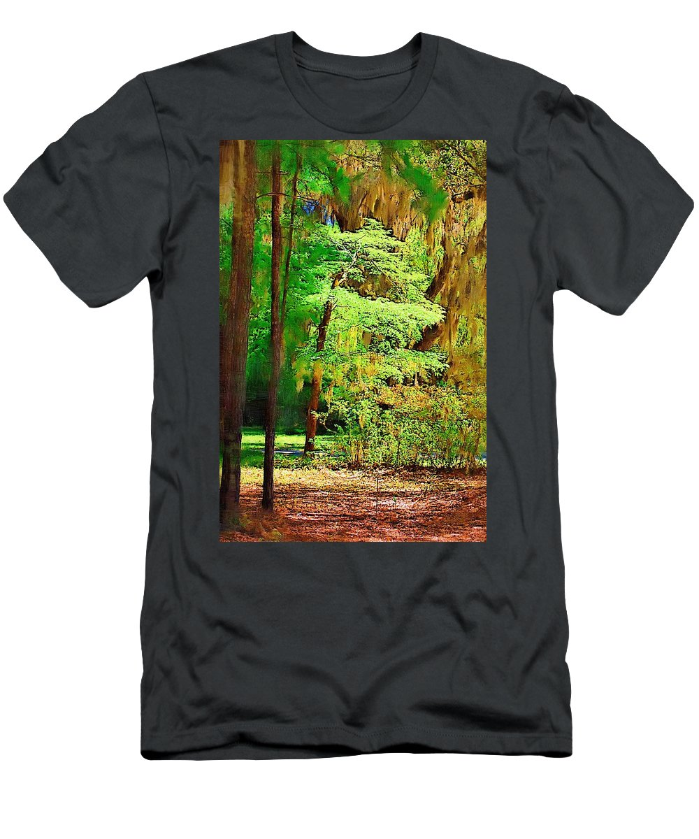 Woods Men's T-Shirt (Athletic Fit) featuring the photograph Southern Forest by Donna Bentley