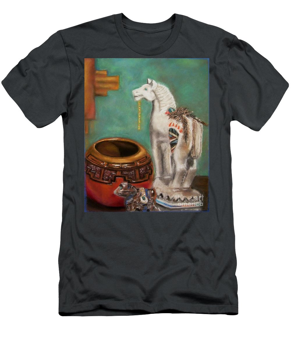 Southwest Art Men's T-Shirt (Athletic Fit) featuring the painting Southwest Treasures by Frances Marino