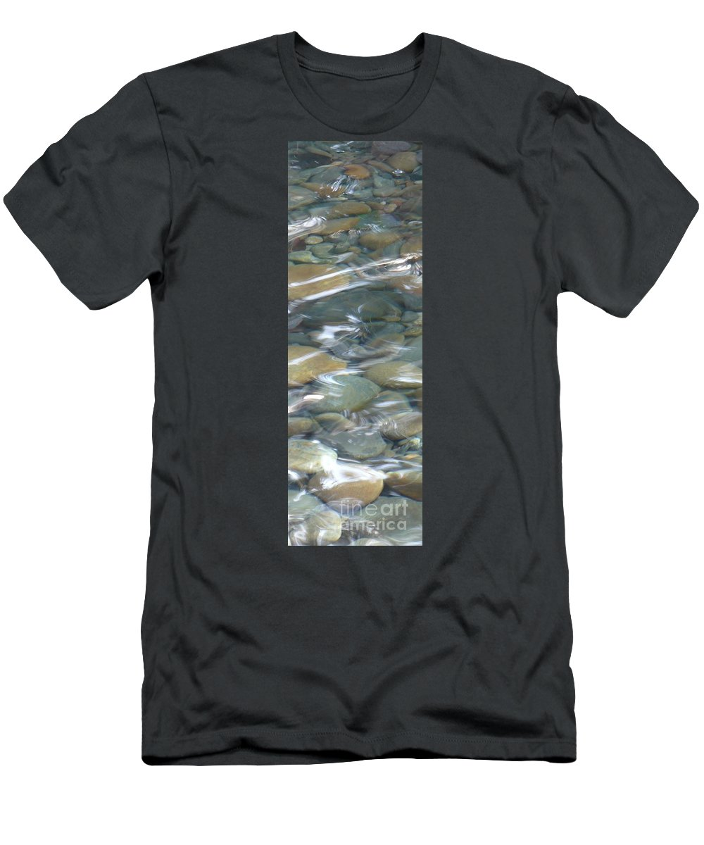 Sparkling Water Men's T-Shirt (Athletic Fit) featuring the photograph Sparkling Water On Rocky Creek 1 by Carol Groenen