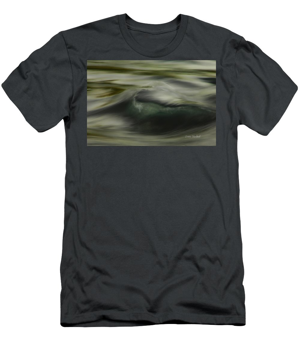 Water Men's T-Shirt (Athletic Fit) featuring the photograph Speaking Sofly by Donna Blackhall