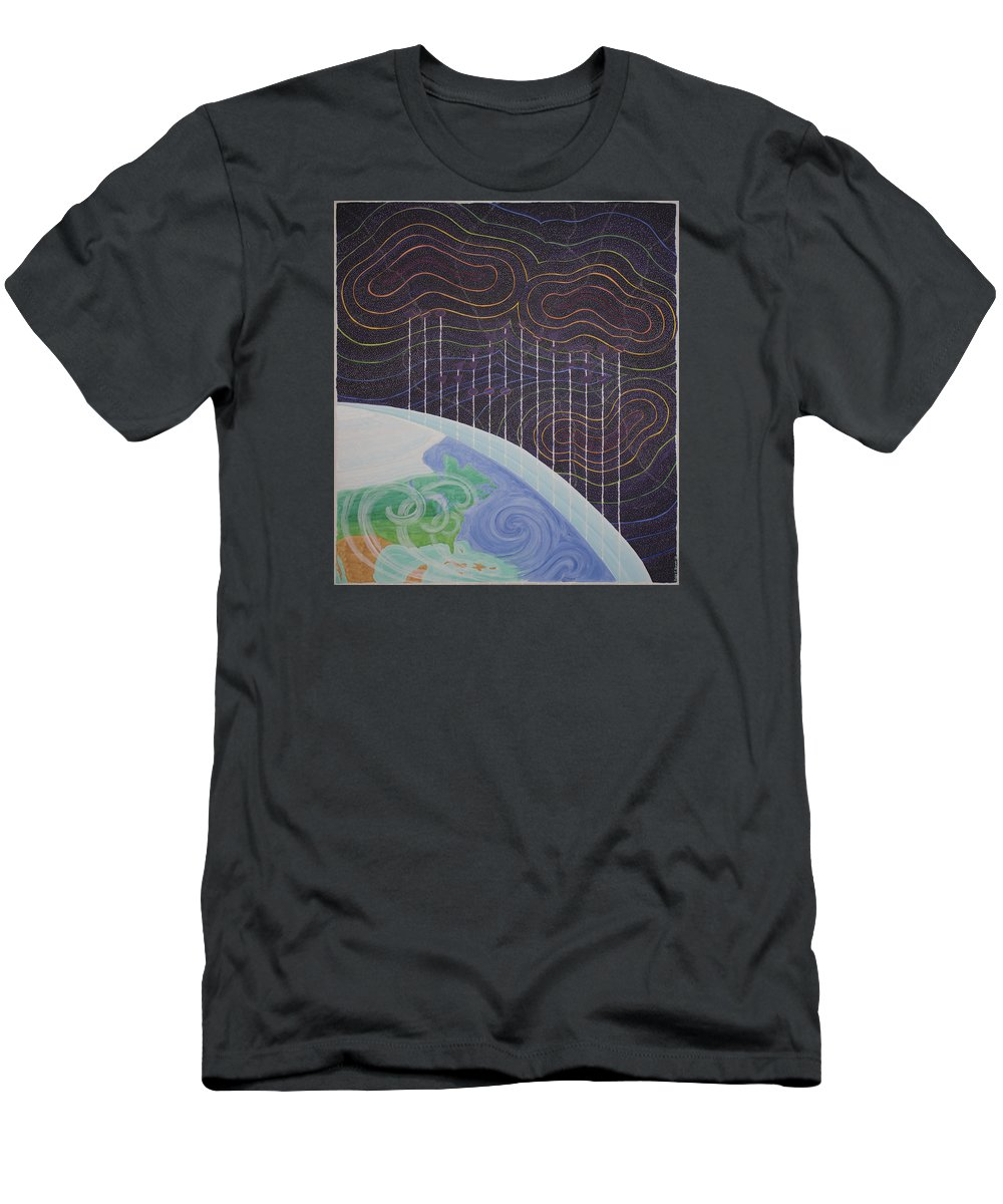 3d Men's T-Shirt (Athletic Fit) featuring the painting Spectrum Earth Spacescape by Jesse Jackson Brown