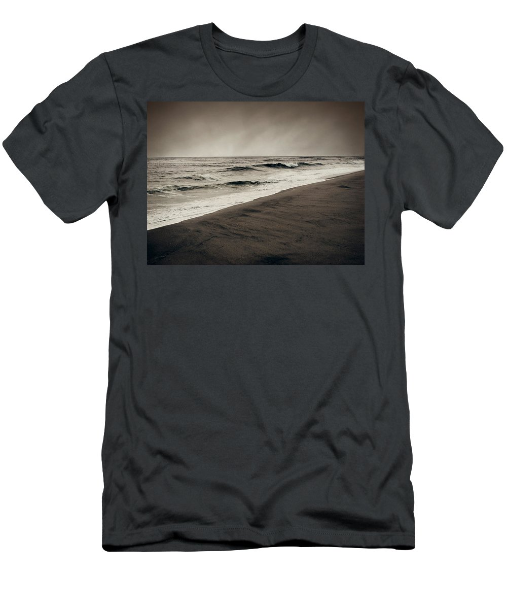Ocean Men's T-Shirt (Athletic Fit) featuring the photograph Spending My Days Escaping Memories by Dana DiPasquale