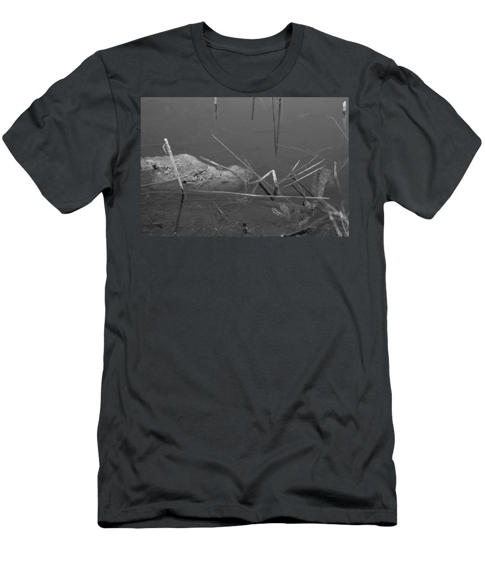 Black And White T-Shirt featuring the photograph Spider In Water by Rob Hans