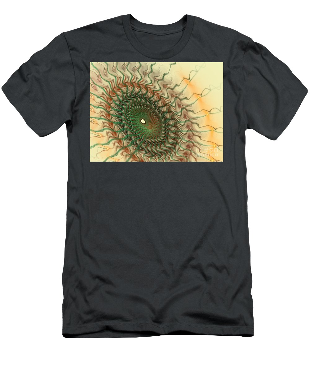 Fractal Men's T-Shirt (Athletic Fit) featuring the mixed media Spiritual Journey by Deborah Benoit