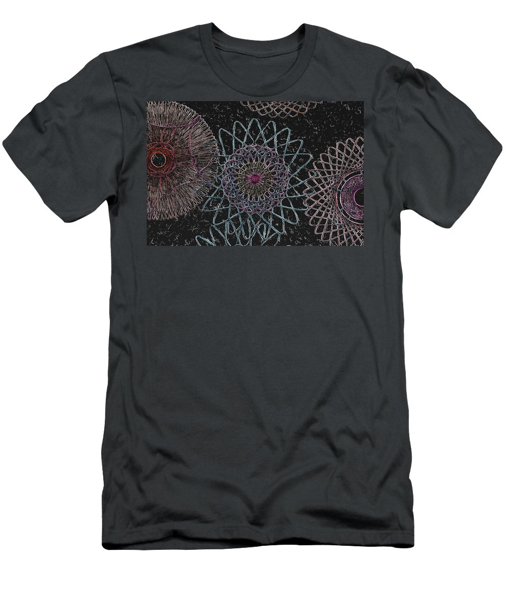 Spirograph Men's T-Shirt (Athletic Fit) featuring the photograph Spirograph 1010 by Modern Art