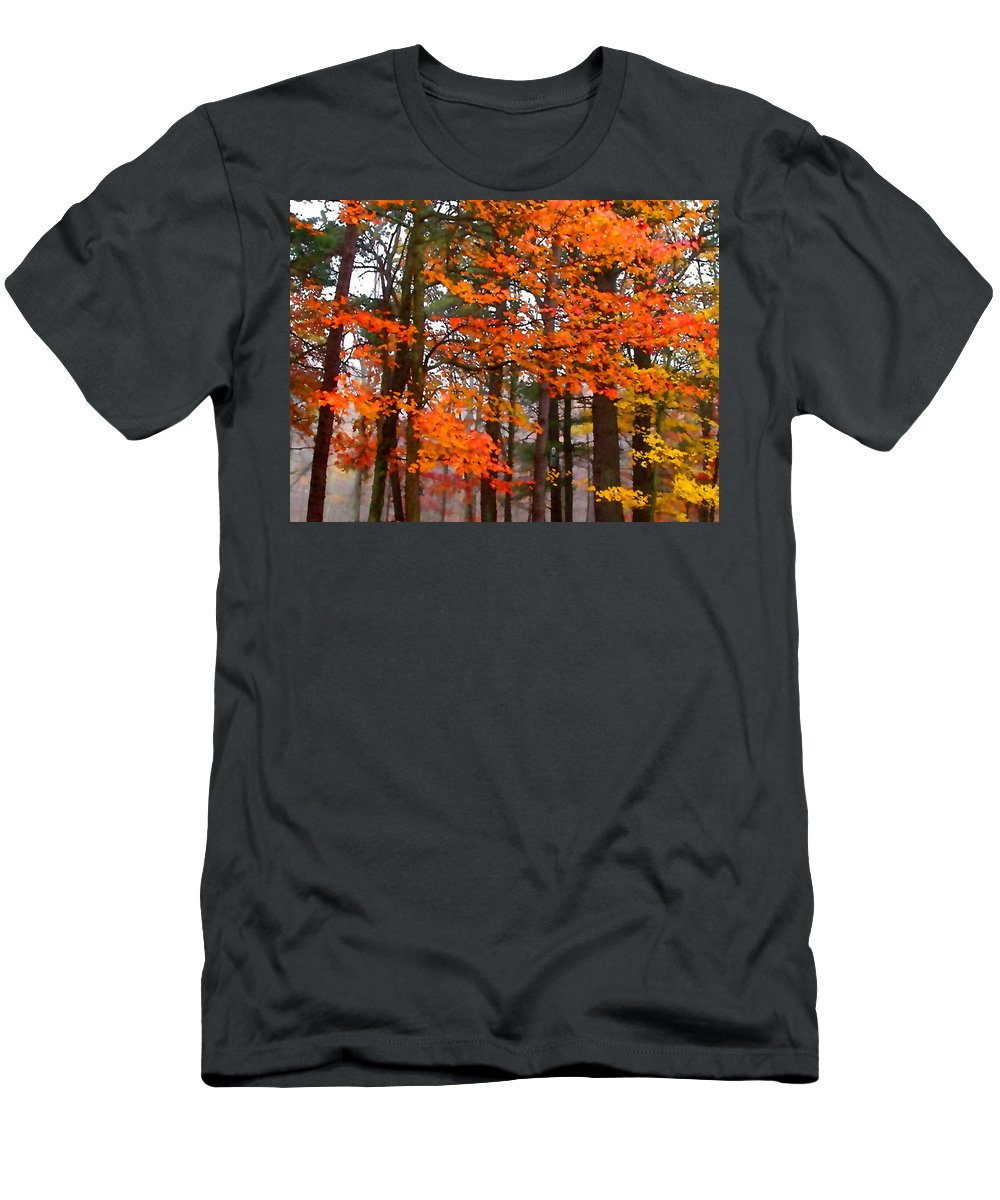 Autumn Men's T-Shirt (Athletic Fit) featuring the painting Splashes Of Autumn by Paul Sachtleben