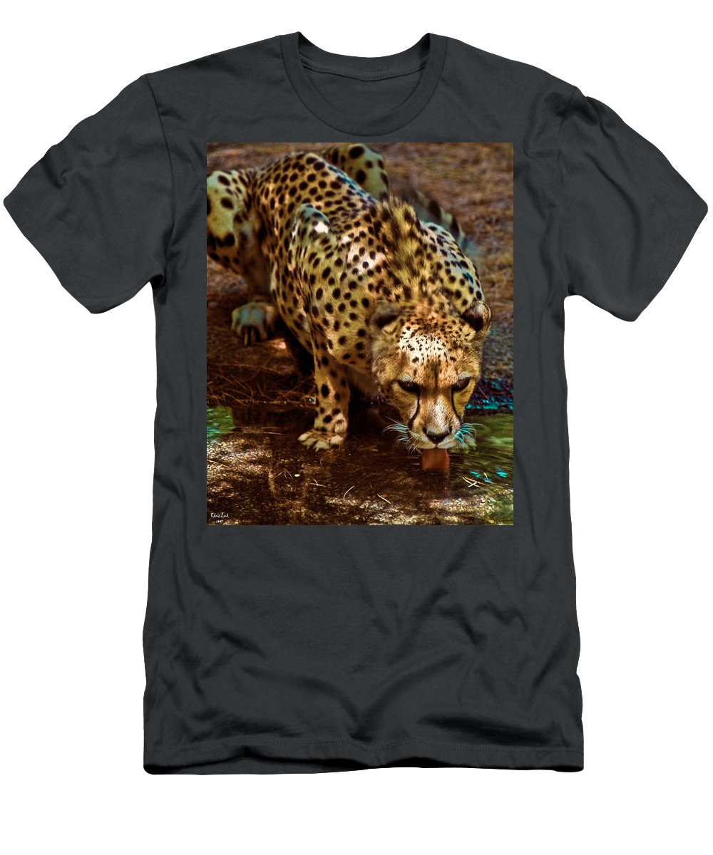 Cheetah Men's T-Shirt (Athletic Fit) featuring the photograph Spots by Chris Lord