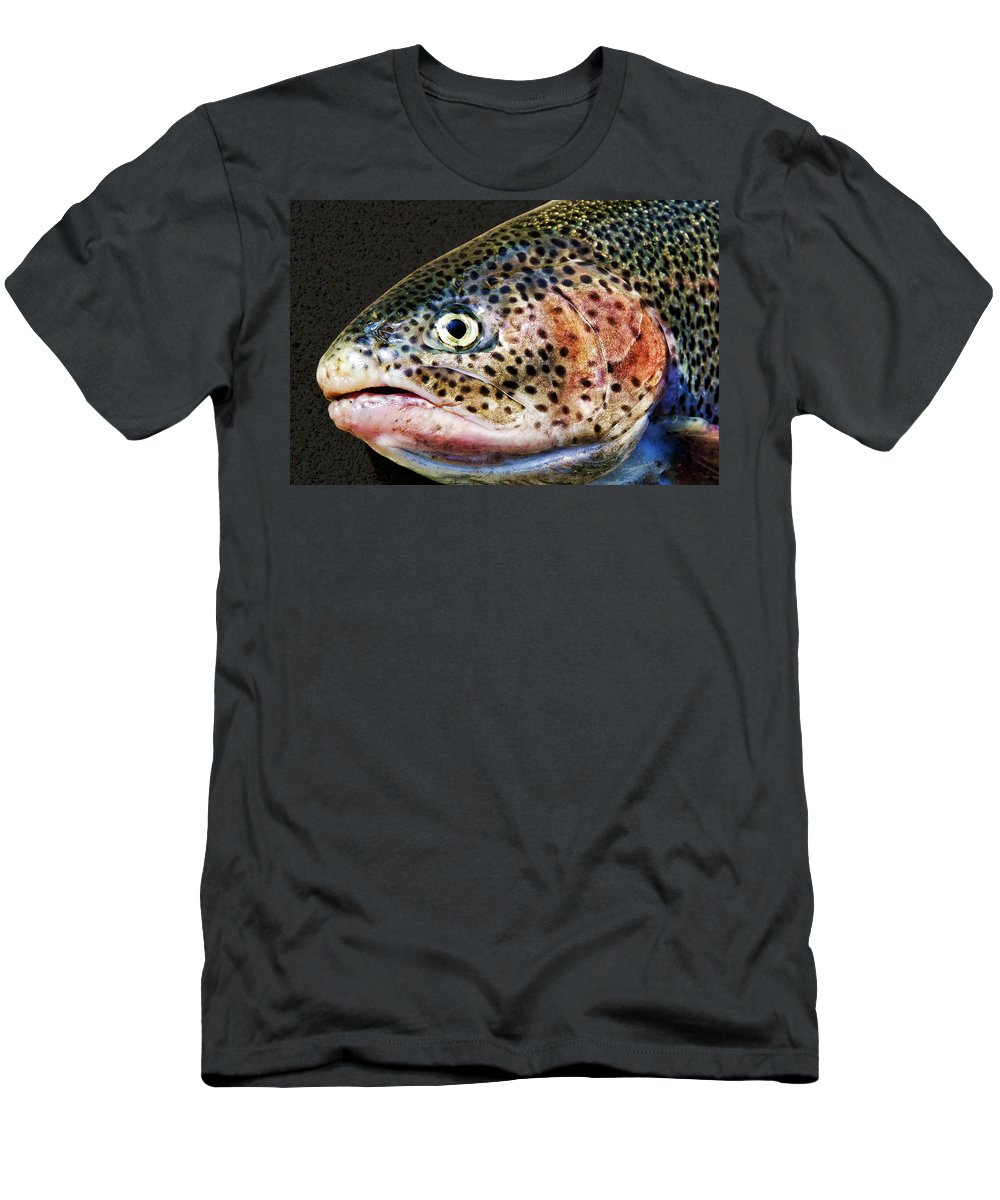 Fish Men's T-Shirt (Athletic Fit) featuring the photograph Spotted by Kelley King