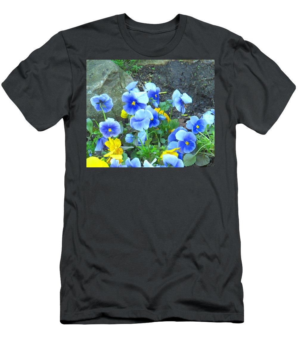 Blue Men's T-Shirt (Athletic Fit) featuring the photograph Spring Beauties by Ian MacDonald