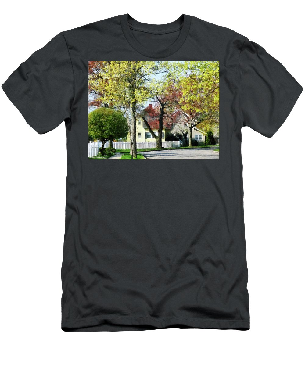 Spring Men's T-Shirt (Athletic Fit) featuring the photograph Spring Begins In The Suburbs by Susan Savad