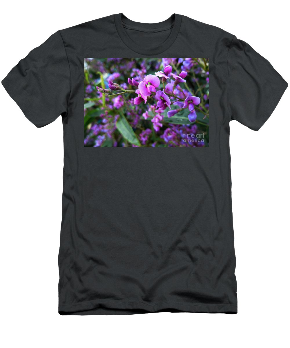 Flowers Men's T-Shirt (Athletic Fit) featuring the photograph Spring Blossom 2 by Xueling Zou