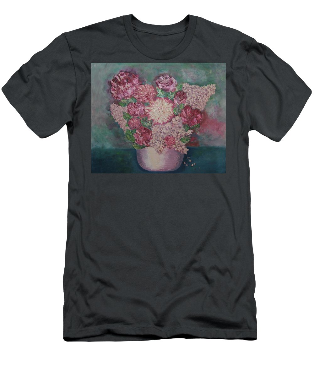 Spring Men's T-Shirt (Athletic Fit) featuring the painting Spring Bouquet by Nataliia Fialko