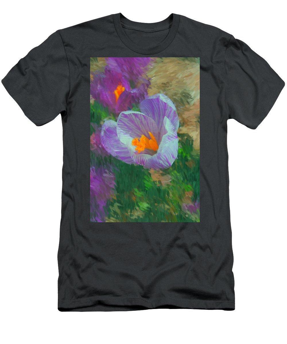 Digital Photography Men's T-Shirt (Athletic Fit) featuring the digital art Spring Has Sprung by David Lane