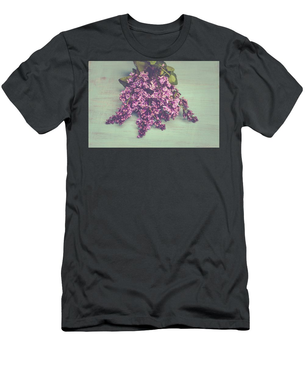 Lilac Men's T-Shirt (Athletic Fit) featuring the photograph Spring Lilacs by Olivia StClaire