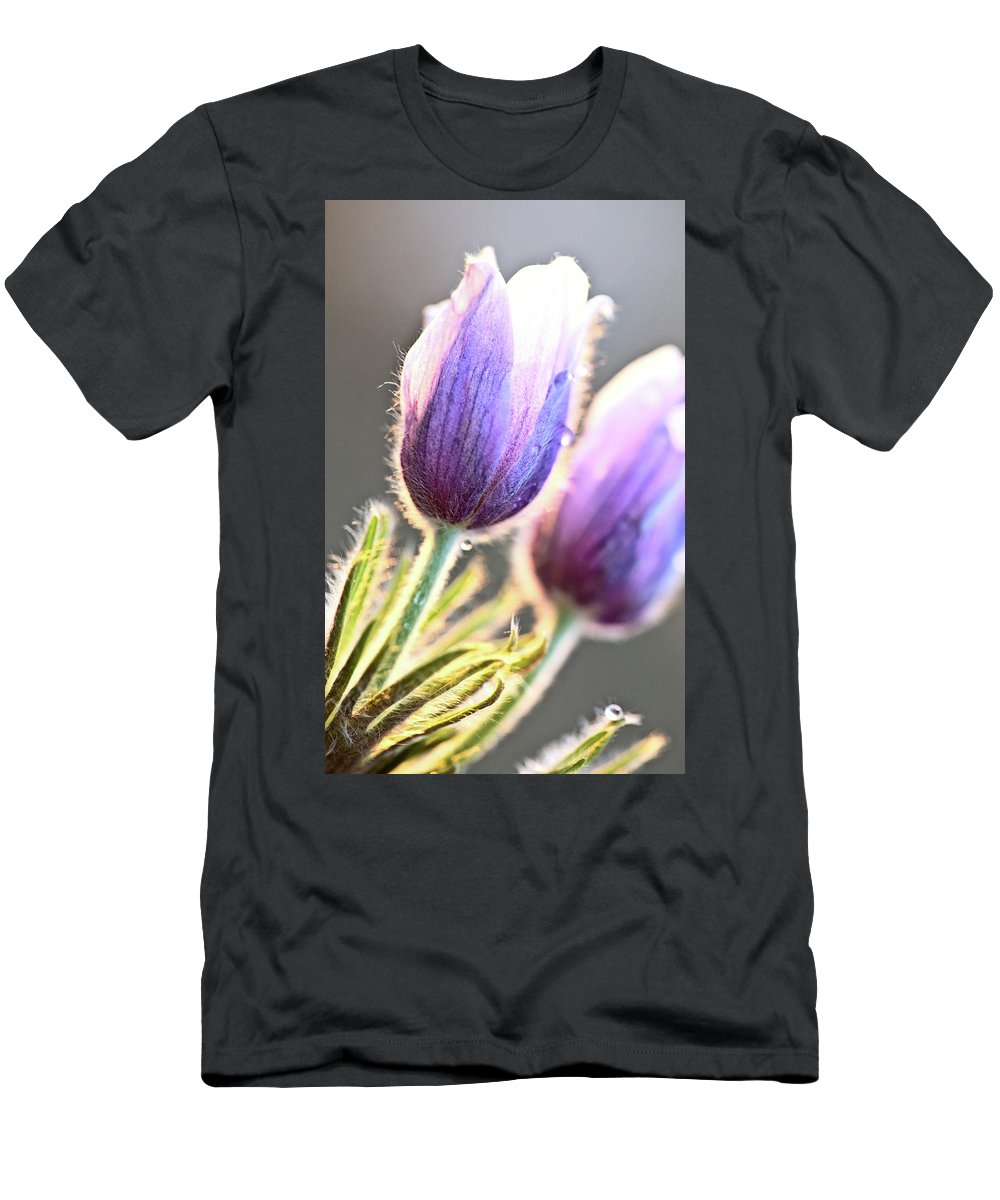 Spring Men's T-Shirt (Athletic Fit) featuring the digital art Spring Time Crocus Flower by Mark Duffy