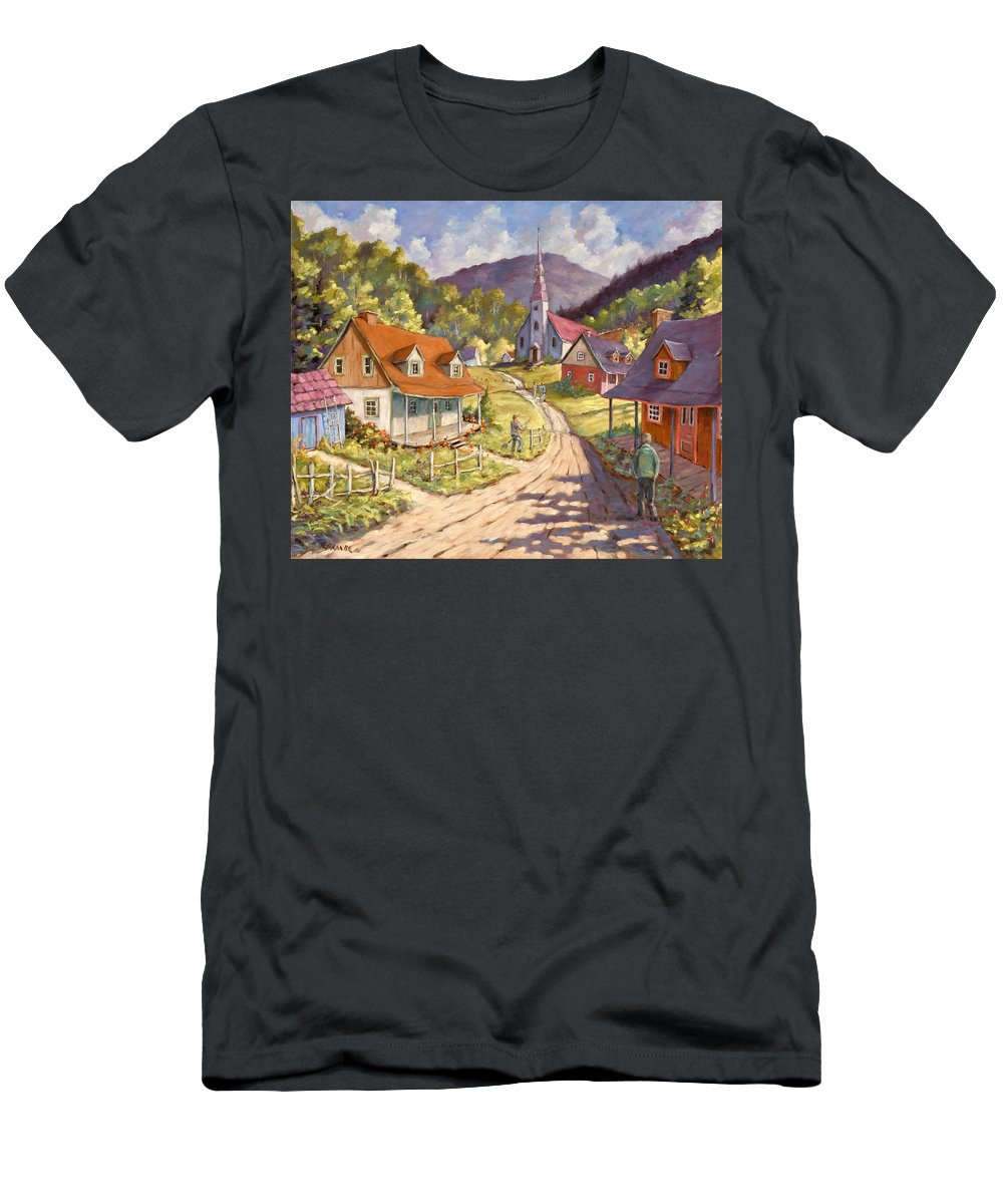Art Men's T-Shirt (Athletic Fit) featuring the painting Spring Time Sun by Richard T Pranke