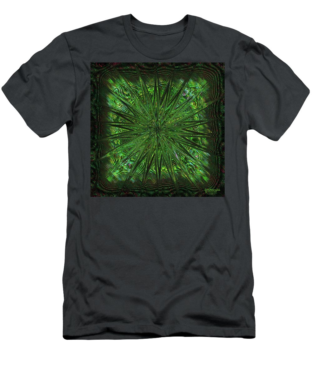 Abstract Men's T-Shirt (Athletic Fit) featuring the digital art Square Crop Circles Three by Diane Parnell