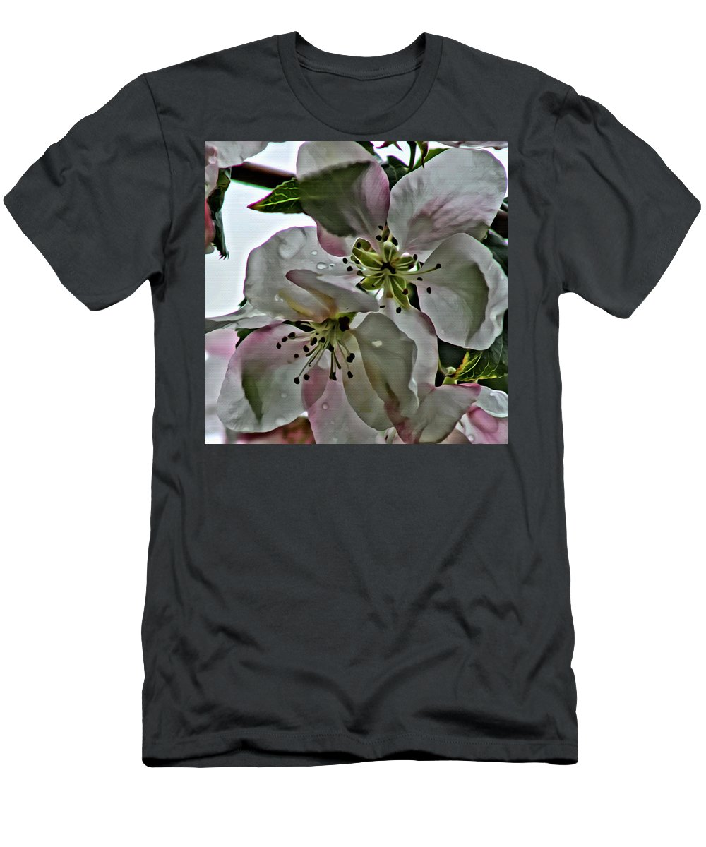 Flower Men's T-Shirt (Athletic Fit) featuring the photograph Square Dogwood by Modern Art