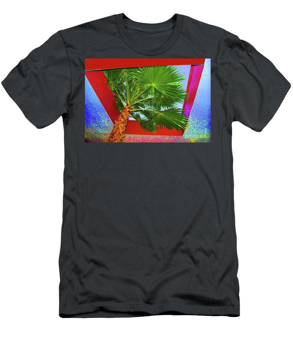 Color Men's T-Shirt (Athletic Fit) featuring the photograph Square Palm by Jost Houk