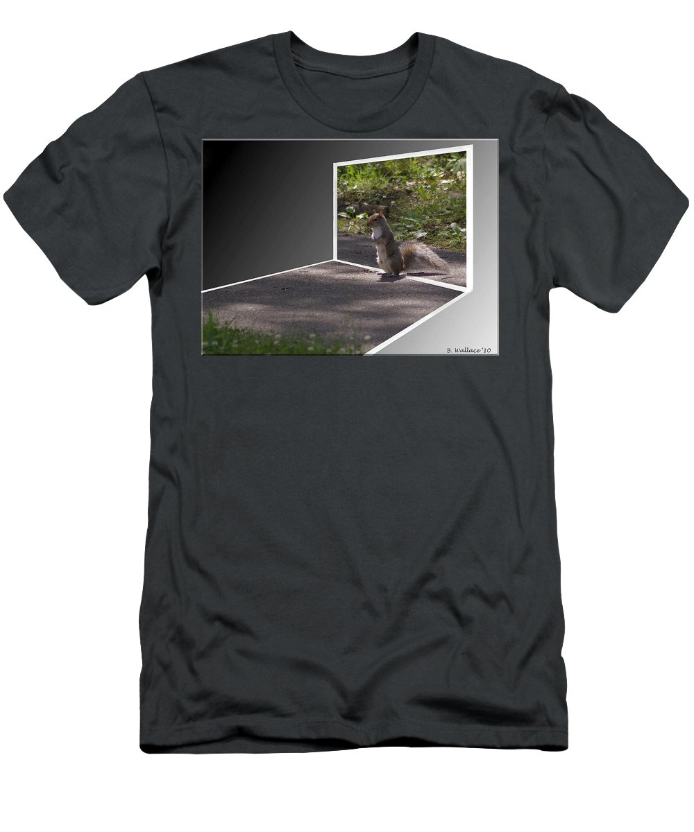 2d Men's T-Shirt (Athletic Fit) featuring the photograph Squirrel World by Brian Wallace