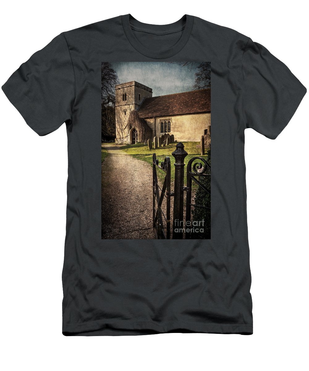 St Andrews Men's T-Shirt (Athletic Fit) featuring the photograph St Andrews At Chaddleworth Berkshire by Ian Lewis