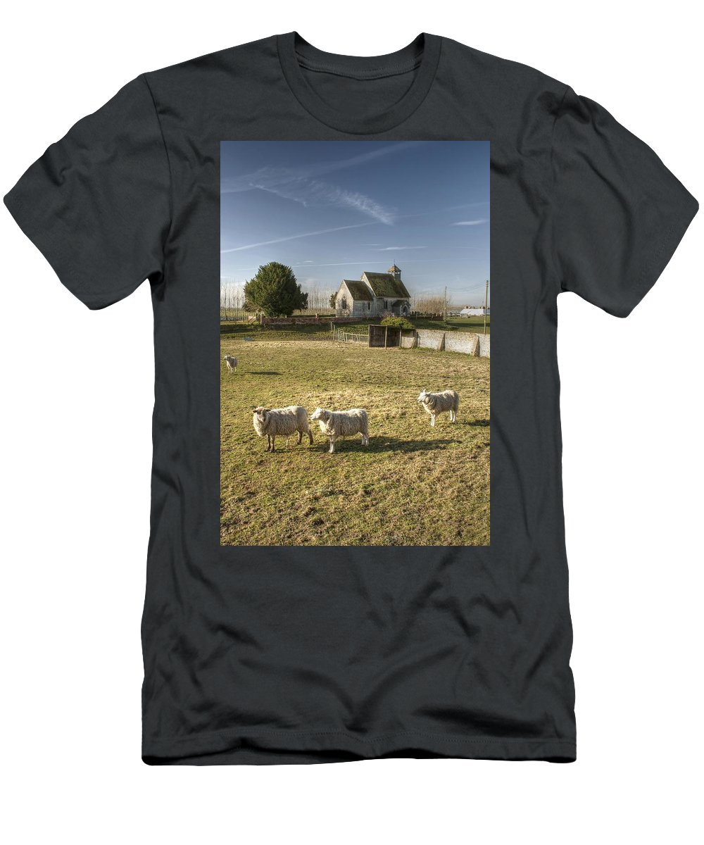 St Men's T-Shirt (Athletic Fit) featuring the photograph St Bartholomew Goodnestone by Dave Godden