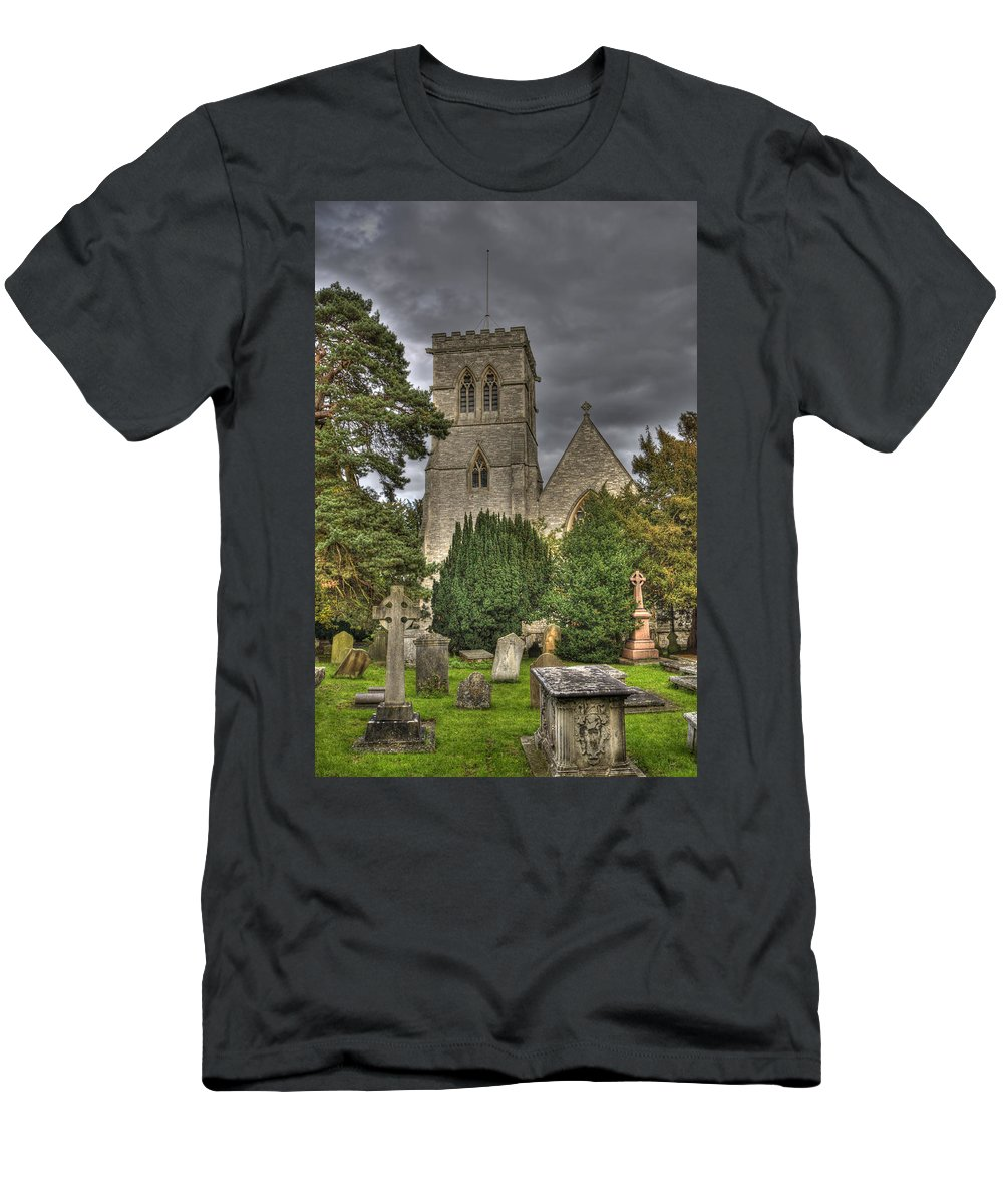 St John Men's T-Shirt (Athletic Fit) featuring the photograph St John The Evangalist Stanmore by Chris Thaxter
