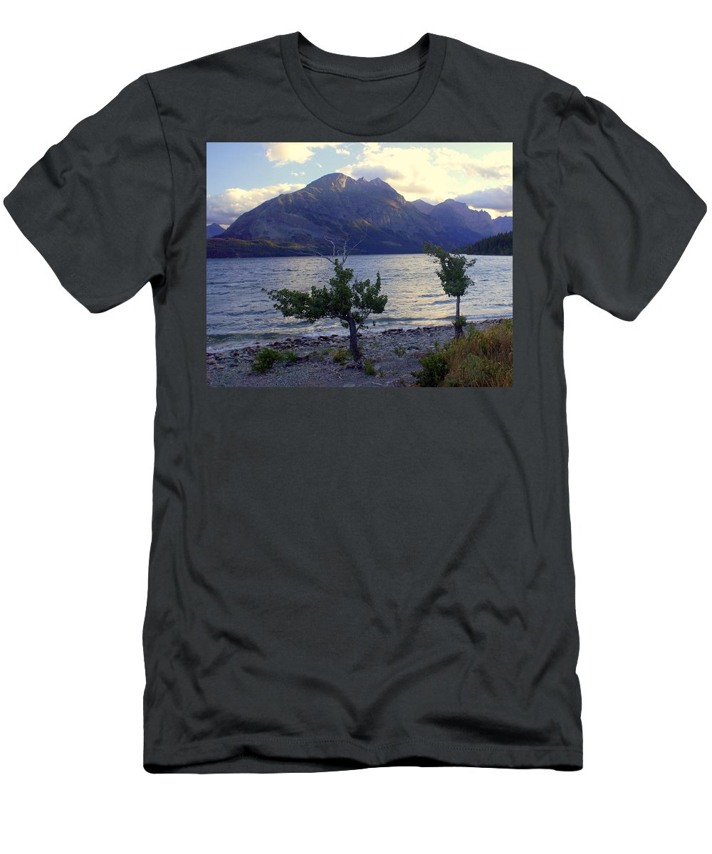St. Mary's Lake Men's T-Shirt (Athletic Fit) featuring the photograph St. Mary Lake by Marty Koch