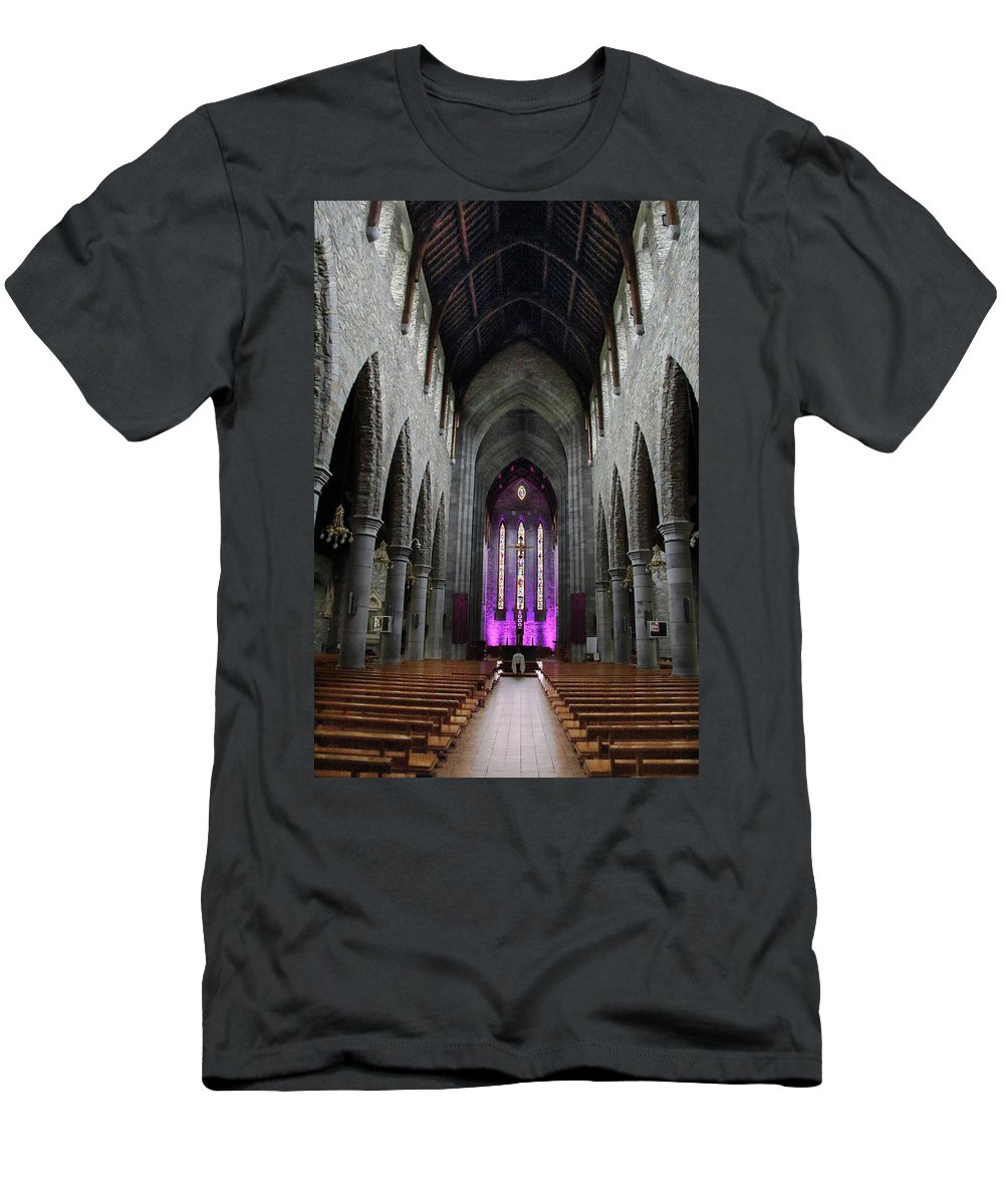 Cathedral T-Shirt featuring the photograph St. Mary's Cathedral, Killarney Ireland 1 by Marie Leslie