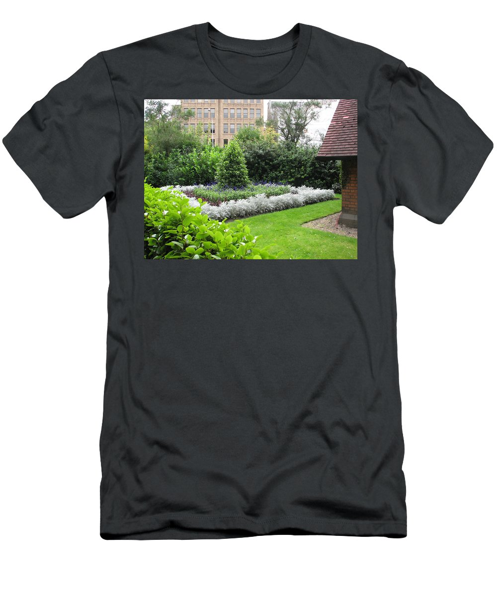 Ireland Men's T-Shirt (Athletic Fit) featuring the photograph St. Stephen's Garden by Kelly Mezzapelle