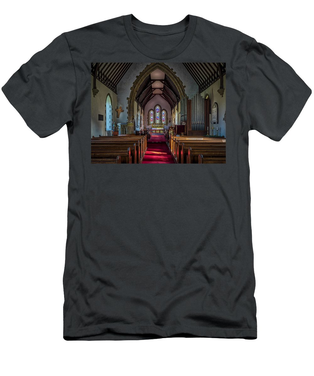 Norman Men's T-Shirt (Athletic Fit) featuring the photograph St Thomas Church, St Dogmaels by Mark Llewellyn