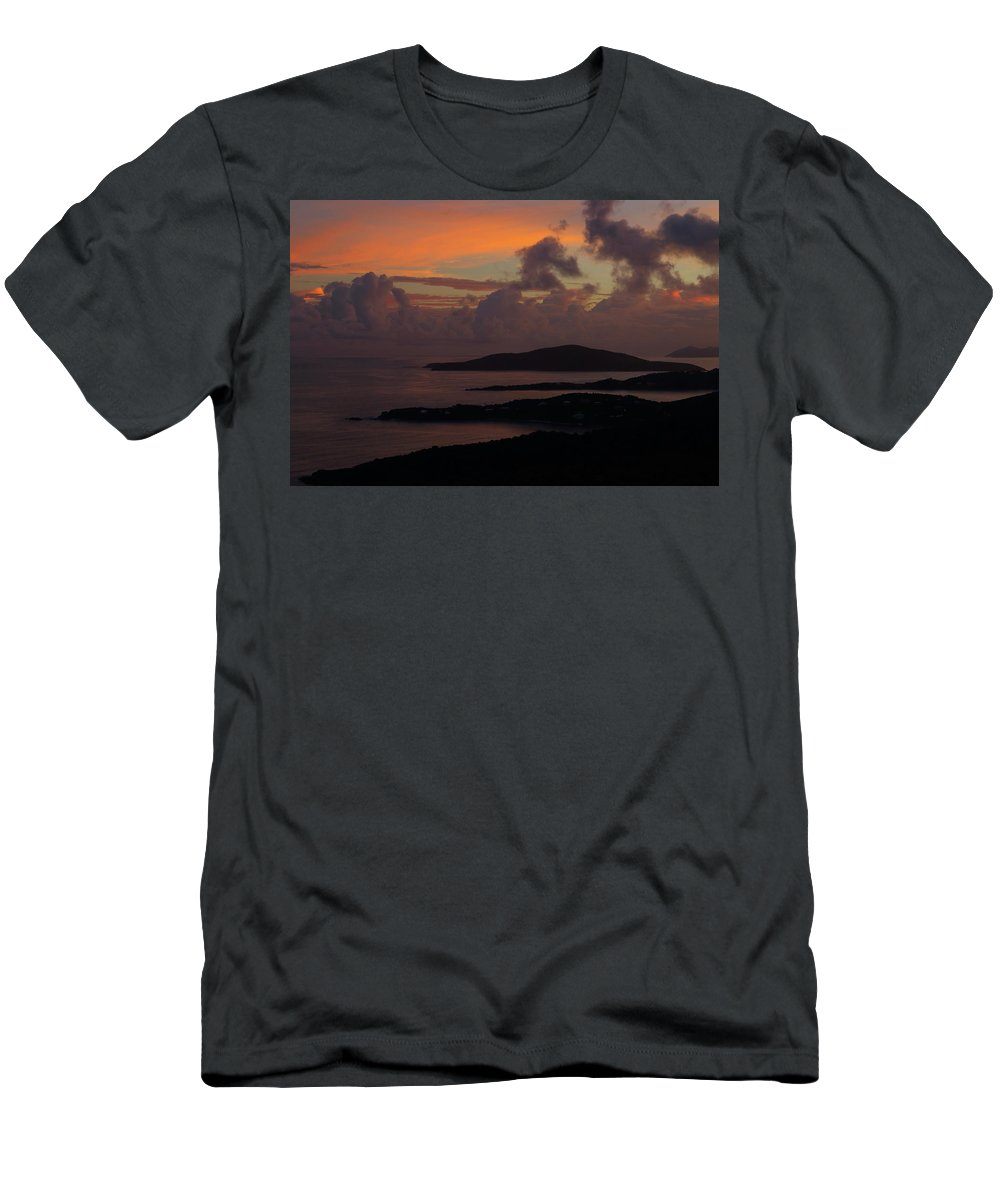 Sunset Men's T-Shirt (Athletic Fit) featuring the photograph St Thomas Sunset At The U.s. Virgin Islands by Jetson Nguyen