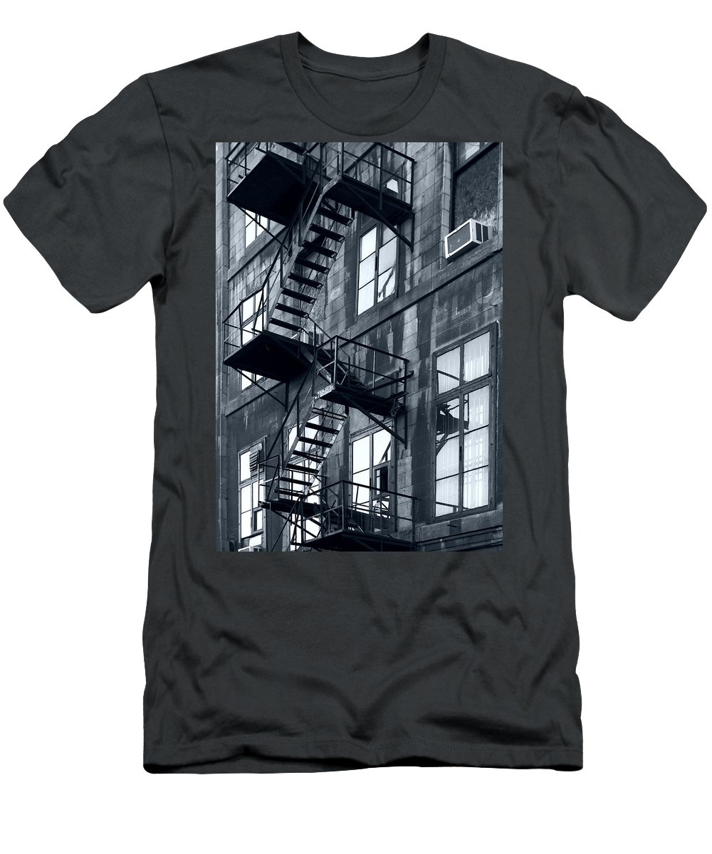 Canada Men's T-Shirt (Athletic Fit) featuring the photograph Stairs by Pierre Logwin