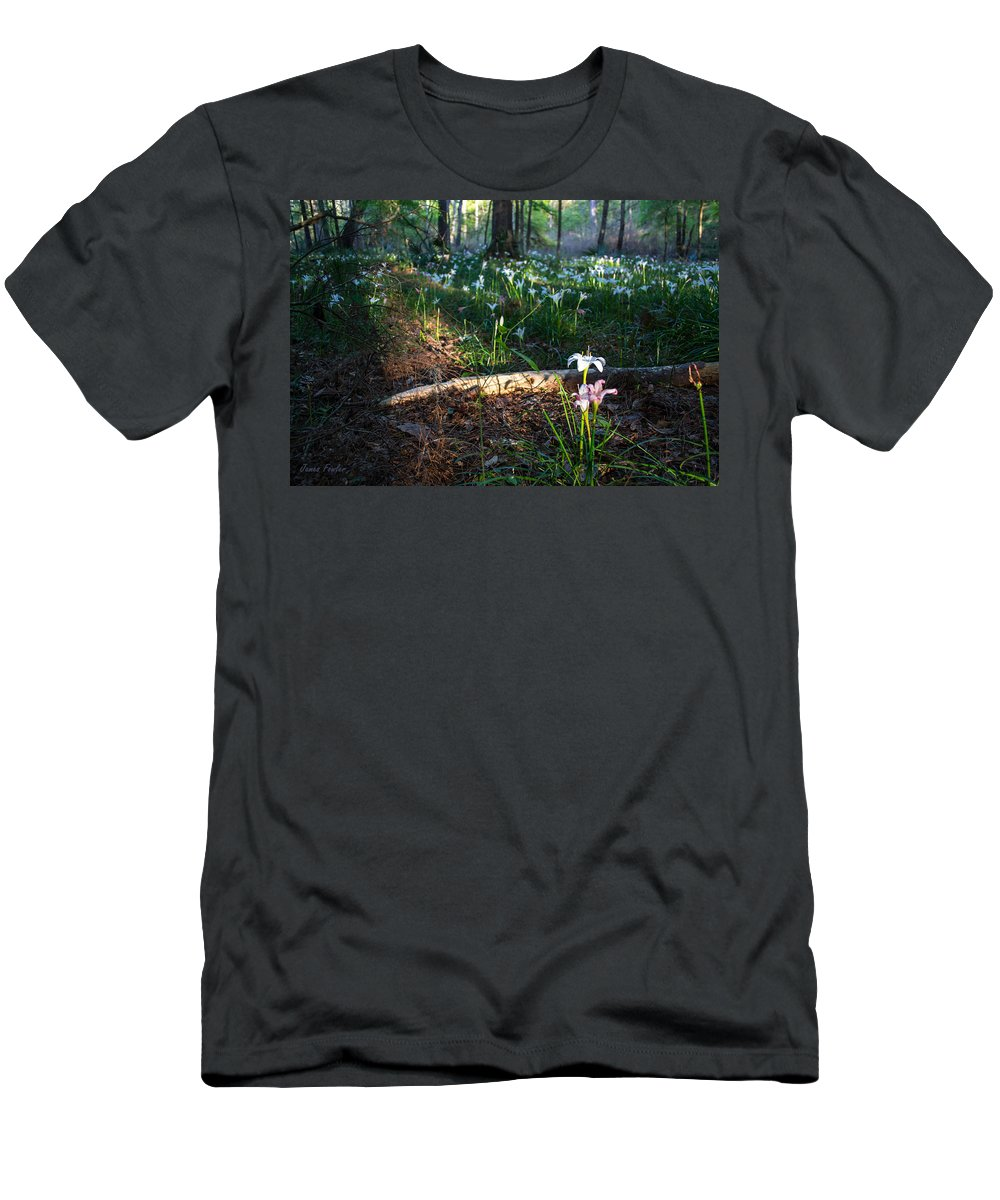 Lily Easter Men's T-Shirt (Athletic Fit) featuring the photograph Standing Apart by James Fowler