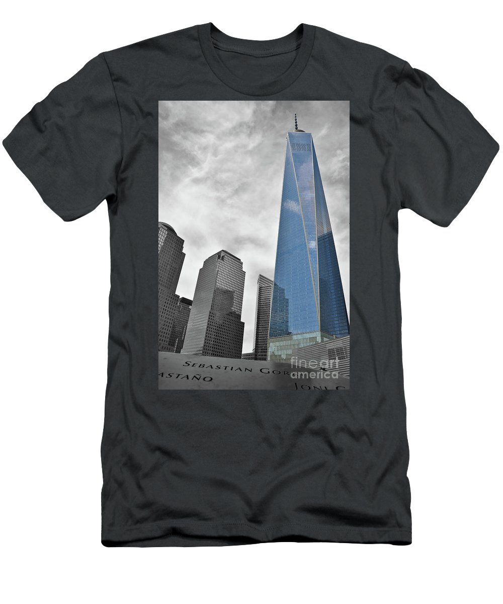 New York Men's T-Shirt (Athletic Fit) featuring the photograph Standing Tall by Eve Forrest